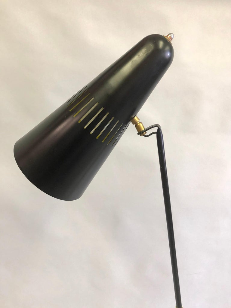 French Mid-Century Modern Prototype Floor Lamp, Serge Mouille & Pierre Guariche For Sale 2