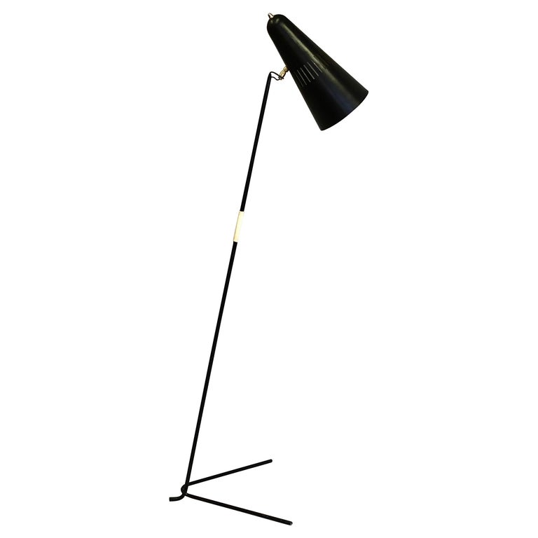 French Mid-Century Modern Prototype Floor Lamp, Serge Mouille & Pierre Guariche For Sale