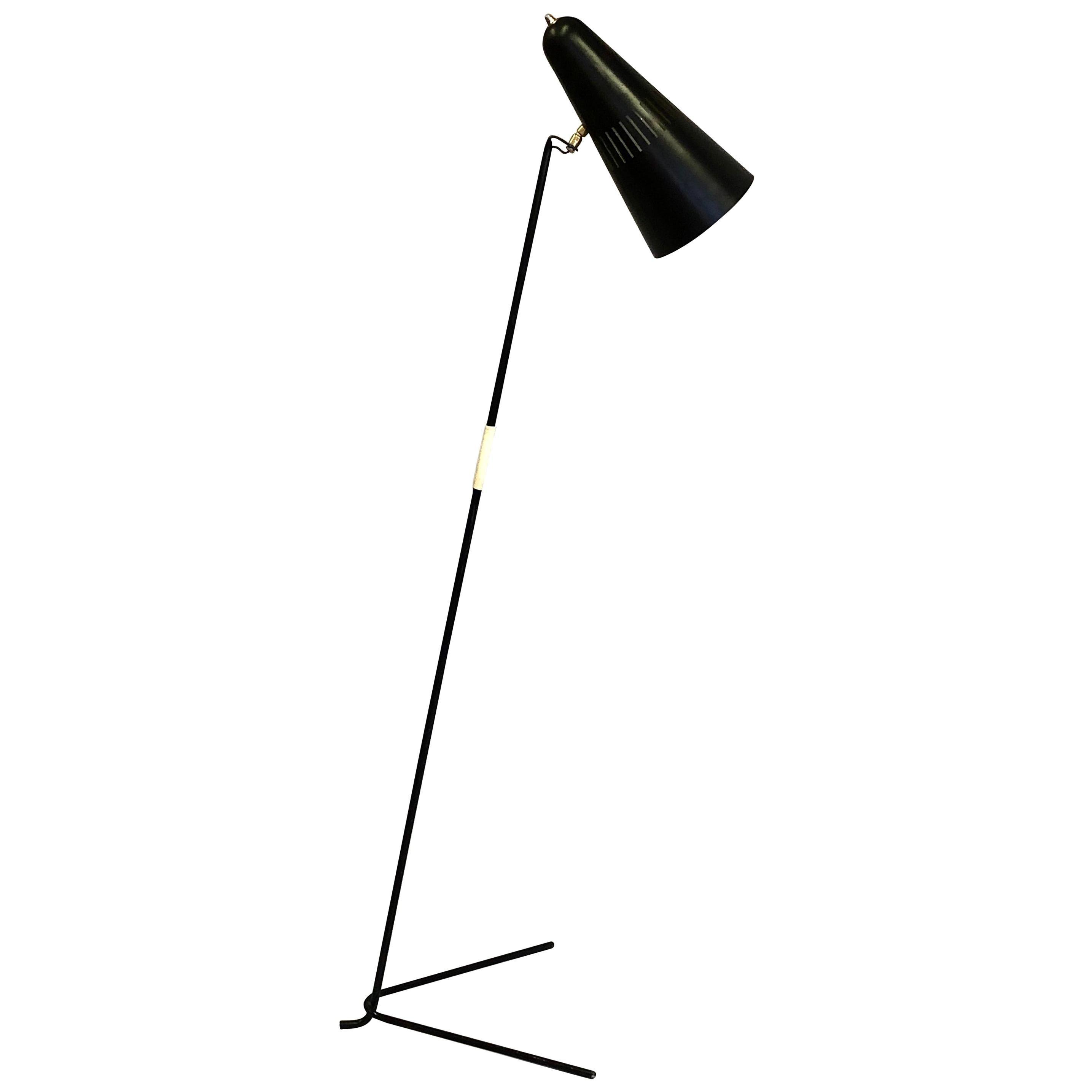 French Mid-Century Modern Prototype Floor Lamp, Serge Mouille & Pierre Guariche