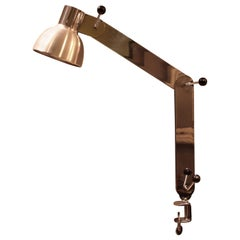 Articulated Clamp Desk Lamp, Steel and Aluminium, France, 1960s