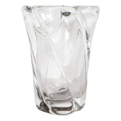 French Mid-Century Modern Translucent Glass Vase by Daum