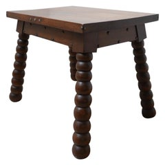 French Mid-Century Oak Bobbin Coffee Table or Side Table