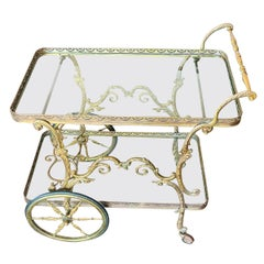 French Midcentury Rolling Bar Cart