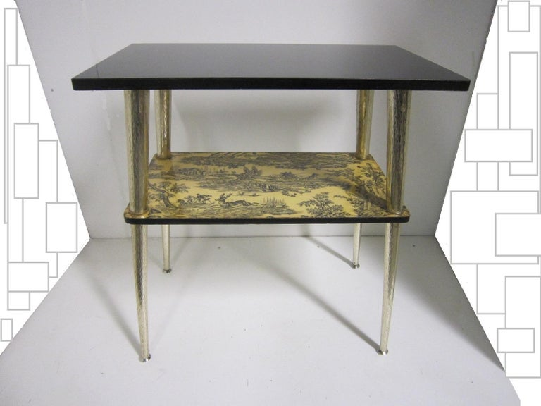Metal French Midcentury Side Table / Console For Sale