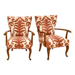French Midcentury Vintage Armchairs