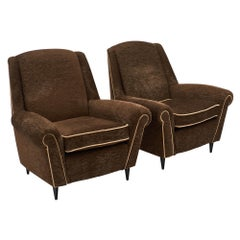 French Midcentury Armchairs