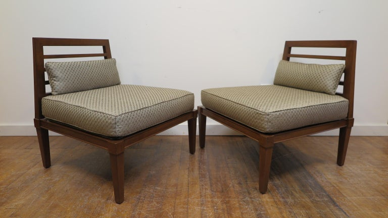 French Midcentury Chairs in the Style of Andre Arbus For Sale 2