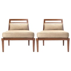 French Mid century Chairs in the Style of Andre Arbus