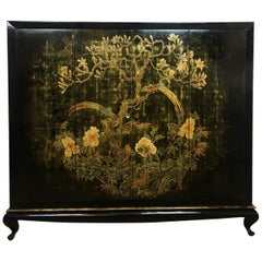Rare French Midcentury Chinoiserie Dry Bar or TV Cabinet, Signed A. Bouverat