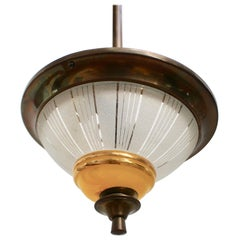 French Midcentury Conical Ceiling Light, 'circa 1940s'