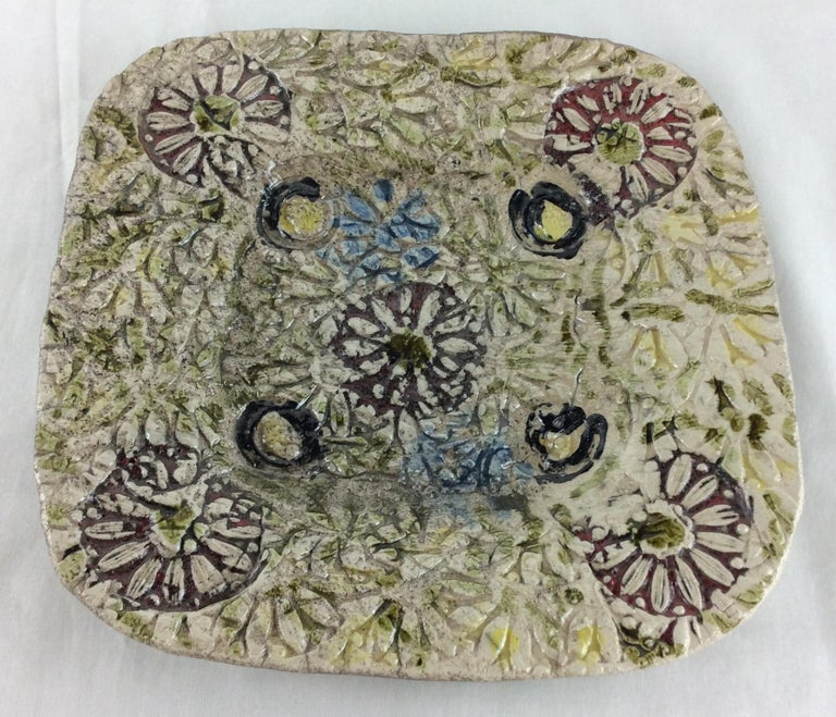French Midcentury Decorative Ceramic Plate For Sale 1