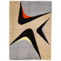 French Midcentury Design Rug by Jacques Borker