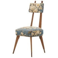 French Midcentury Floral Dining Chair