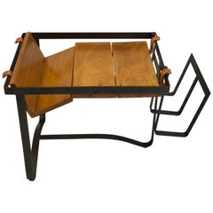 French Midcentury Modern Side Table or Magazine Stand by Jacques Adnet