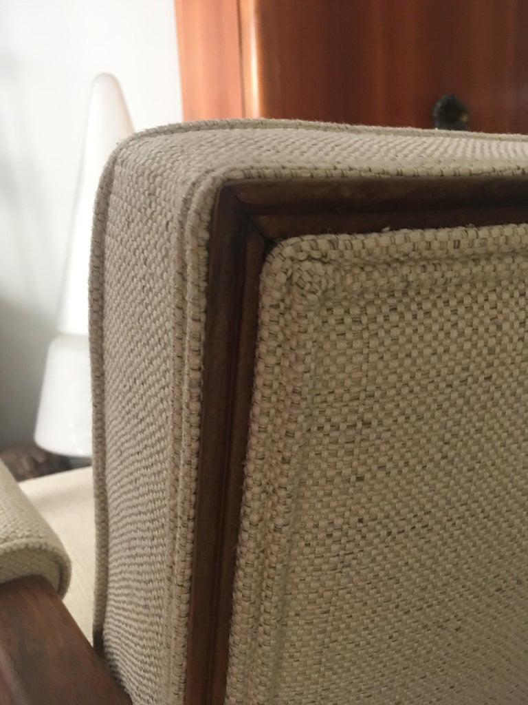 French Midcentury Pair of Armchairs by Baptistin Spade For Sale 1