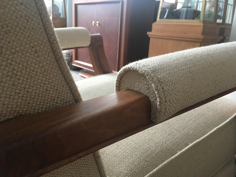 French Midcentury Pair of Armchairs by Baptistin Spade For Sale 5