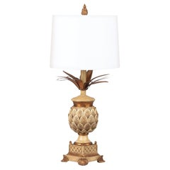French Midcentury Pineapple Lamp in the Style of Maison Jansen, 1960s