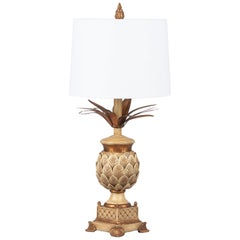 French Midcentury Pineapple Lamp in the Style of Maison Jansen