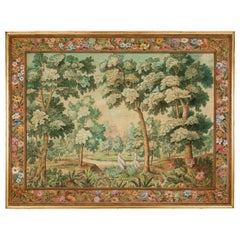 French Midcentury Tapestry Painting by André Turin