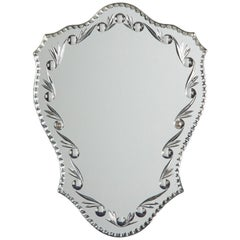 French Midcentury Venetian Glass Mirror
