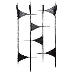 French Midcentury Wrought-Iron Coat-Rack, 1960s
