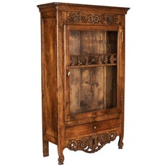 French Miniature Armoire or Provençal Verrio