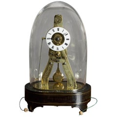 French Miniature 'Exhibition' Style Skeleton Clock