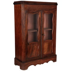 French Miniature Mahogany Armoire or Doll Funiture