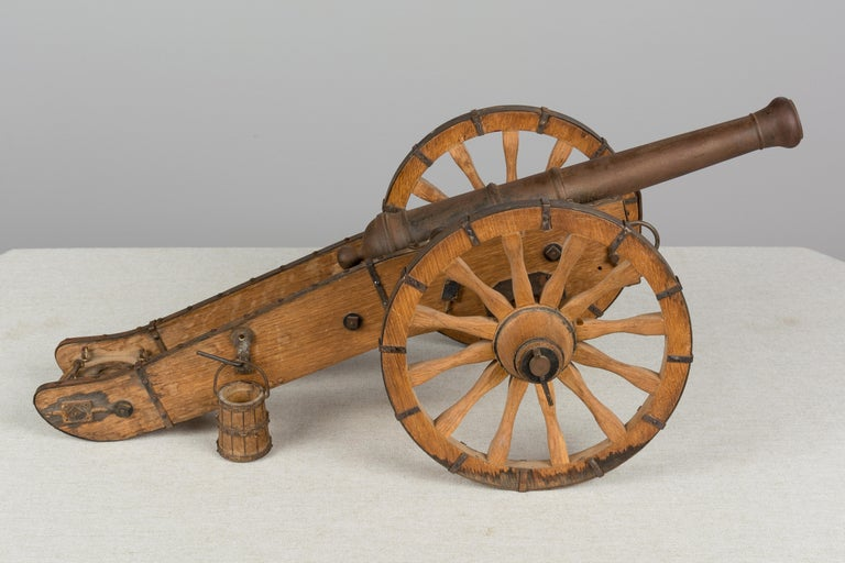 Cast French Miniature Model Cannon For Sale