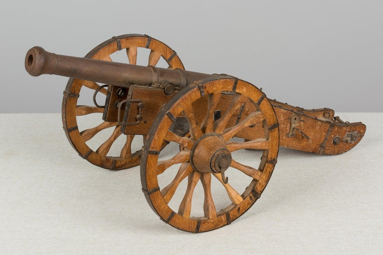 20th Century French Miniature Model Cannon For Sale