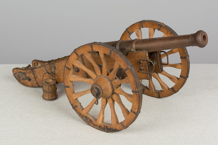Iron French Miniature Model Cannon For Sale