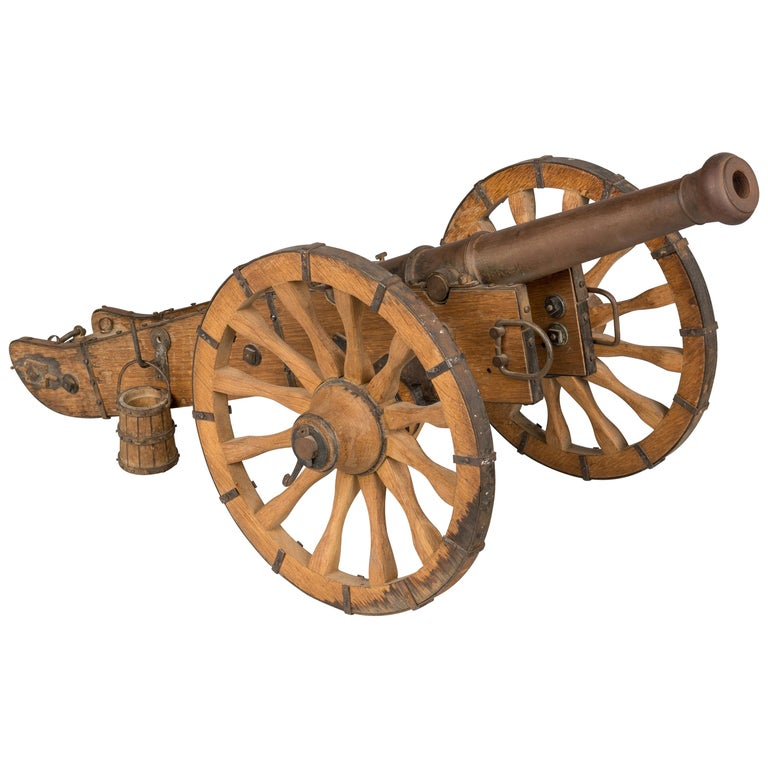 French Miniature Model Cannon For Sale