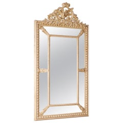 French Mirror in Wood and Painted Plaster, 20th Century