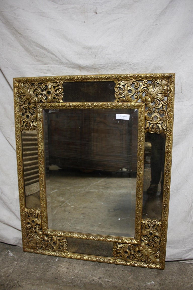 French Mirror, Louis XIV Style In Good Condition For Sale In Atlanta, GA