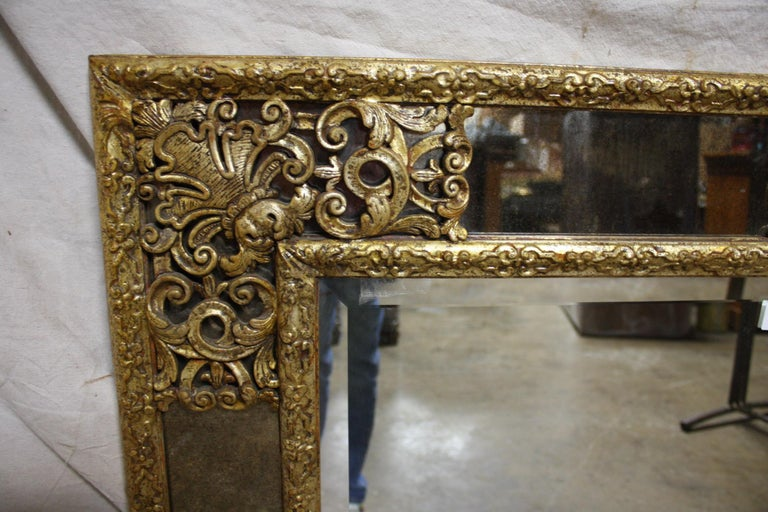 Giltwood French Mirror, Louis XIV Style For Sale