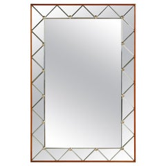 French Mirror with Triangular Beveled Details