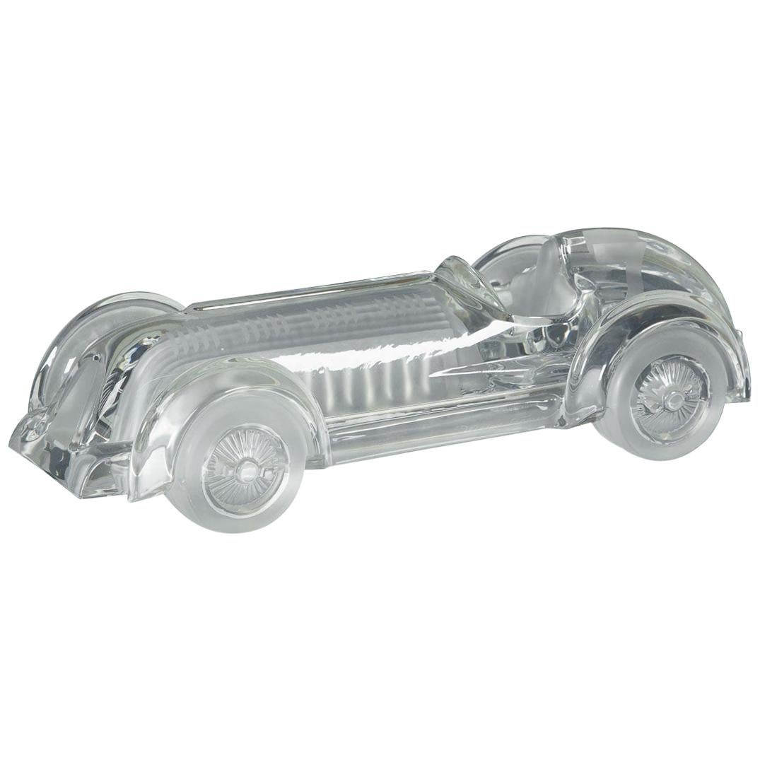 French Model of a Glass Car by Daum, circa 1980