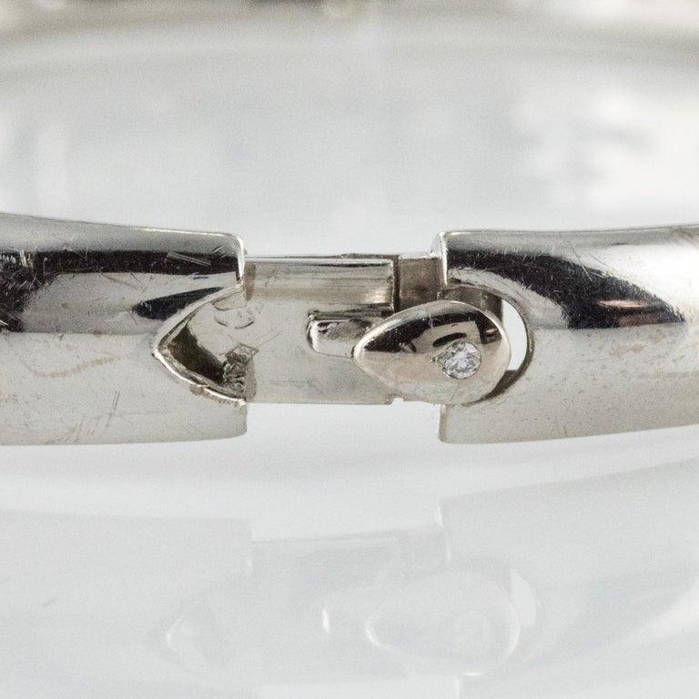 French Modern 3.58 Carat Diamond 18 Karat Gold Bangle Bracelet For Sale 6