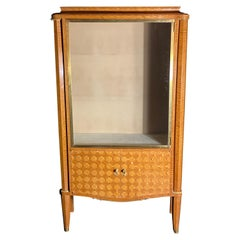 French Modern Amarynth, Mother of Pearl and Bronze Mounted Vitrine, Jules Leleu