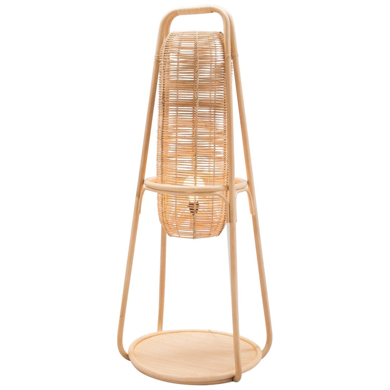 French Modern Design Rattan Floor Lamp