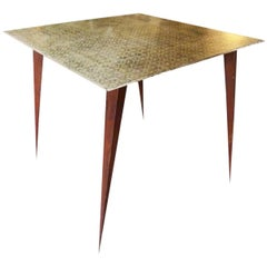 French Modern Iron Coffee Table