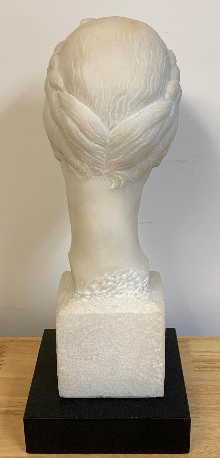 French Modern Marble Portrait Bust of a Lady, by L. Cordonnier, 1951  For Sale 3