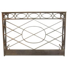 French Modern Neoclassical Console in Hand-Hammered Iron
