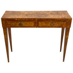 French Modern Neoclassical Fruit Wood Console/ Desk, Circle of Jean-Michel Frank
