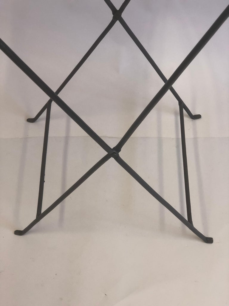 French Modern Neoclassical Iron and Marble Table in Manner of Jean-Michel Frank For Sale 8