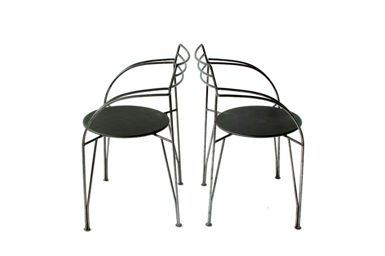 French Modern Patio Chairs by Pascal Mourgue For Sale 7