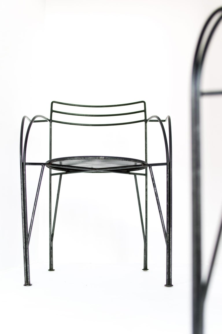 French Modern Patio Chairs by Pascal Mourgue For Sale 8