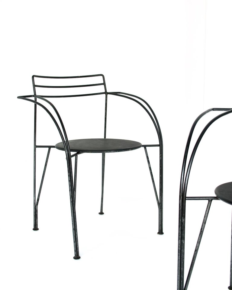 French Modern Patio Chairs by Pascal Mourgue For Sale 9