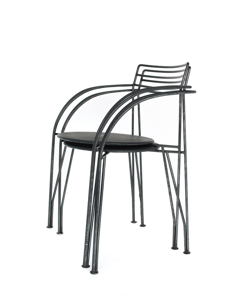 French Modern Patio Chairs by Pascal Mourgue In Good Condition For Sale In Brooklyn, NY