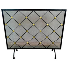 French Modern Royère Style Firescreen